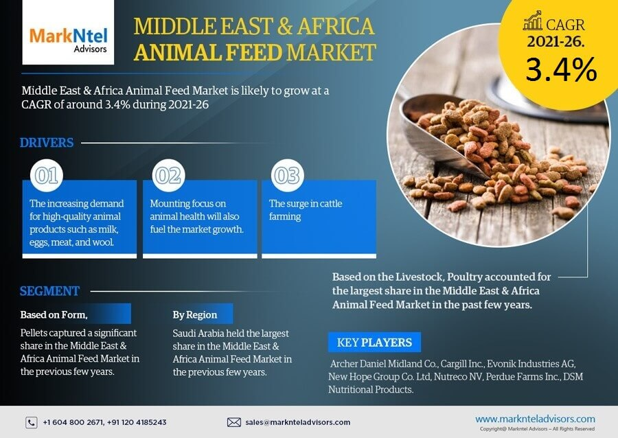 Infographics : Middle East & Africa Animal Feed Market Data & Forecasts