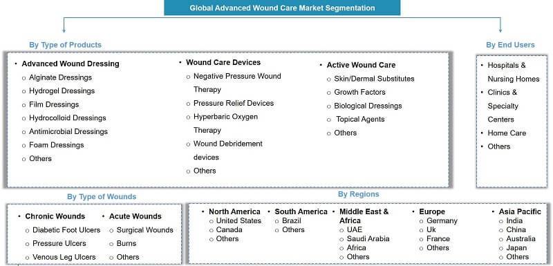 Global Advanced Wound Care Market Segmentation