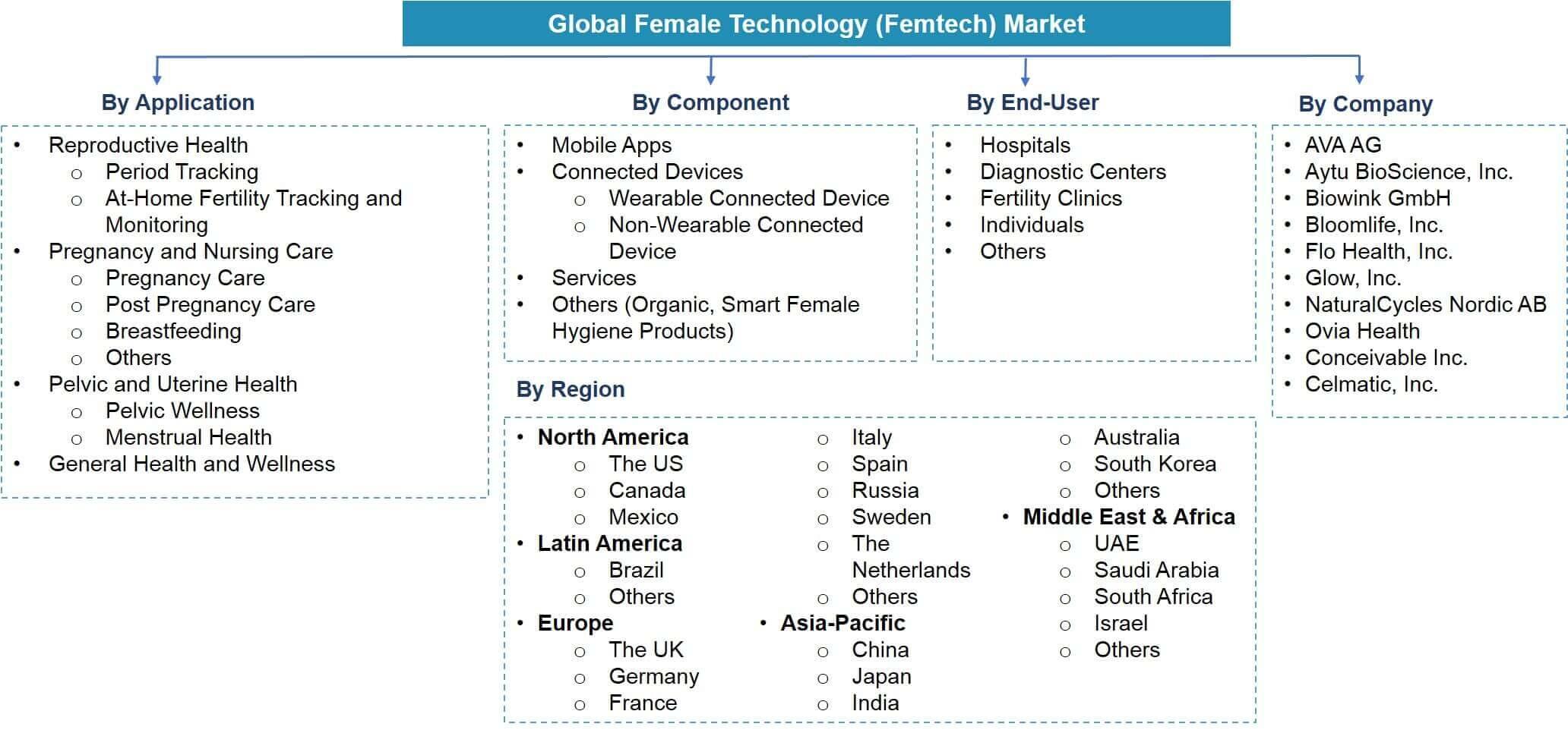 Global Female Technology (Femtech) Market Segmentation