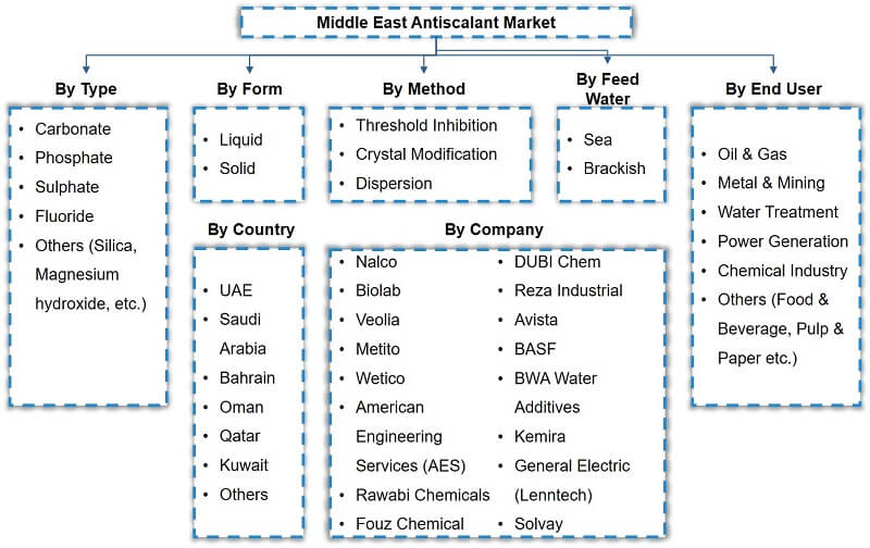 Middle East Antiscalant Market Segmentation
