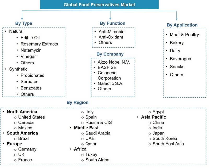 Global Food Preservative Market Segmentation