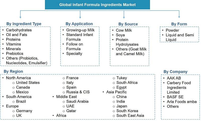 Global Infant Formula Ingredients Market Segmentation