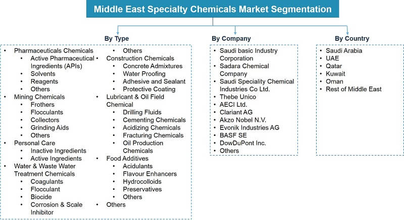 Middle East Speciality Chemicals Market Segmentation